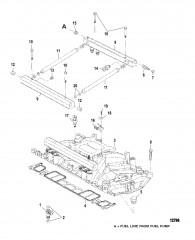 Схема Впускной коллектор и топливные направляющие