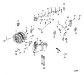 Схема Выносное масляное устройство Охлаждение неочищенной водой