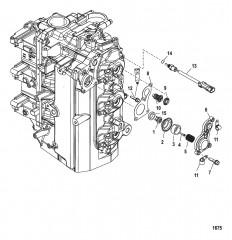 Схема Установка тарельчатого клапана/термостата