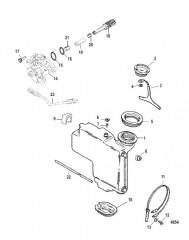 Схема Компоненты системы впрыскивания масла