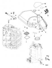 Схема Блок подачи воздуха/крышка маховика