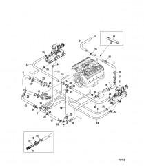 Схема Стандартная система охлаждения (ALPHA) (Одинарный и 3-точечный слив)