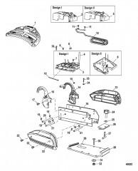 Схема Электрические и крепежные комп. (Пресная вода / сонар для пресной воды)