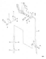 Схема Тяга механизма переключения передач 3.3 л.с.