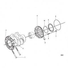 Схема Задний масляный уплотнитель и стакан подшипника