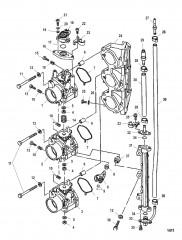 Схема Корпус дроссельной заслонки (Правый борт)