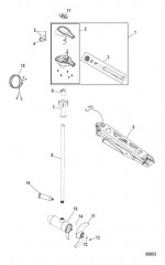 Схема Двигатель для тралового лова в сборе Ручное управление, регулировка скорости до 5