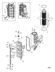 Схема Охладитель нагнетаемого воздуха/впускной коллектор (Gen I) обслуживание не распространяется на колпачок