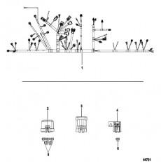 Схема Электрическая панель Электропроводка двигателя