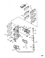 Схема Впускной коллектор (Сер. номера от 0E066620 до 0E095087)