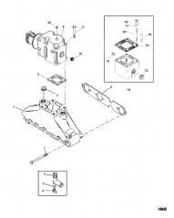 Схема Выхлопной коллектор и выхлопной коленчатый патрубок (Две части)