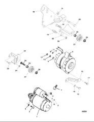 Схема STARTER MOTOR AND ALTERNATOR