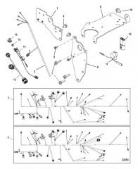 Схема Подъемные кронштейны и электропроводка