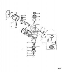 Схема Коленчатый вал Поршни/соединительные стержни (№646-818846)