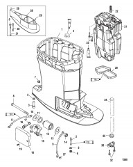 Схема Корпус ведущего вала и выхлопная труба