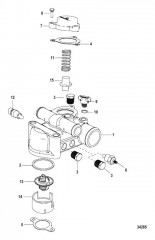 Схема Thermostat and Housing Standard Cooling