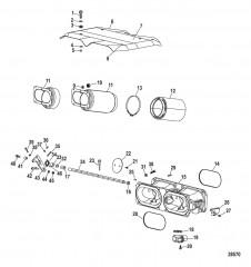 Схема Компоненты на впуске (Воздушная камера и пламегаситель)