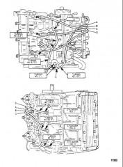 Схема Система рецирк. топлива (Сер. номера от 0E066620 до 0E095087)