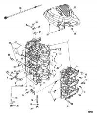 Блок цилиндров и картер
