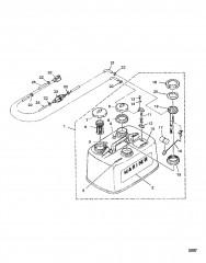 Схема Топливный бак/топливопровод (С/н: M-001188/ML-304030 и ниже)