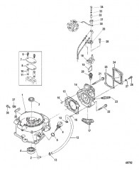 Схема Головка/блок цилиндров