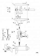 Двигатель для тралового лова в сборе (Модель T25) (12 В)