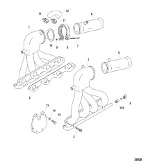 Выпускной коллектор (Конструкция II) прямая – водовыпуск 1.125