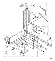 Схема ЭЛЕКТРОПРОВОДКА (ДВИГАТЕЛЬ)