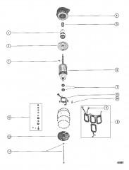 Схема Стартер в сборе В сборе
