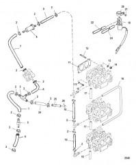 Схема Компоненты набора прокладок двигателя
