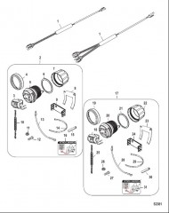 Схема Комплект выключателя/талрепа – сквозное панельное крепление