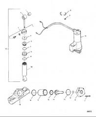 Схема Цилиндр наклона, цилиндр дифферента, двигатель и насос