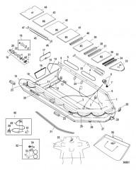 Схема Модель Mecury Heavy Duty 470 (С алюминиевым настилом)