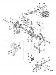 Схема Транец и поворотные кронштейны (Усилитель дифферента)