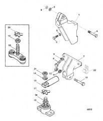 Схема TRANSMISSION AND ENGINE MOUNTING (BORG WARNER 71C)