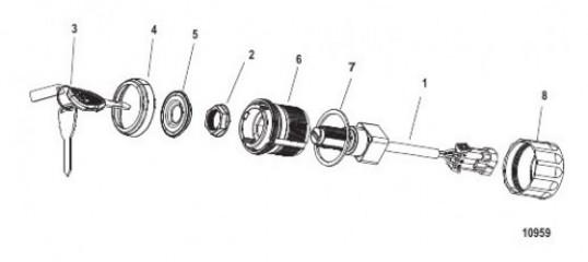 Схема Комплект замка зажигания – 4 поз. Одинарный, цифровая система