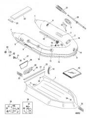Схема Надувные лодки Dynamic из ПВХ – 280 /310 (Mercury 2010/2011)