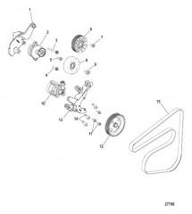 Схема Передний вспомогательный привод Ремни и шкивы