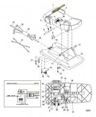 Схема Ножная педаль в сборе (M899721T)