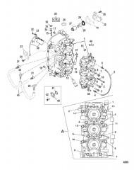 Схема Блок цилиндров и картер
