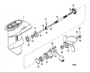 Схема Картер редуктора Вал гребного винта