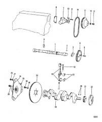 Схема Коленчатый вал Распределительный вал, водяной насос