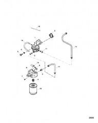 Схема Топливный насос и топливный фильтр