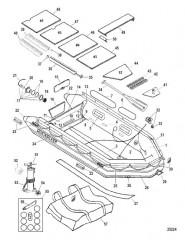 Схема Модель Quicksilver Heavy Duty 380 (С деревянным настилом)