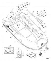 Схема Mercury OceanRunner (хайпалон) – модели 330/350 (2010 / 2011)