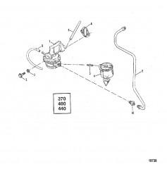 Схема Выносной масляный фильтр (С/н 5669454 и ниже)