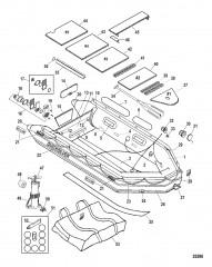 Схема Модель Quicksilver Heavy Duty 380 (С алюминиевым настилом)