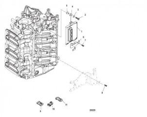 Схема Монтаж PCM Серийный номер 1B490866 и выше