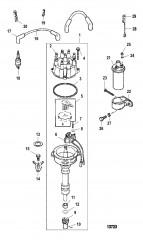 Схема Распределитель и компоненты системы зажигания