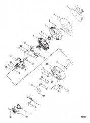 Схема Корпус маховика (Сдвоенный охладитель)